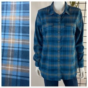 Eddie Bauer Button Down Flannel Shirt L